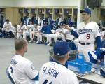 Joe Torre talks to the team at the clubhouse.jpg