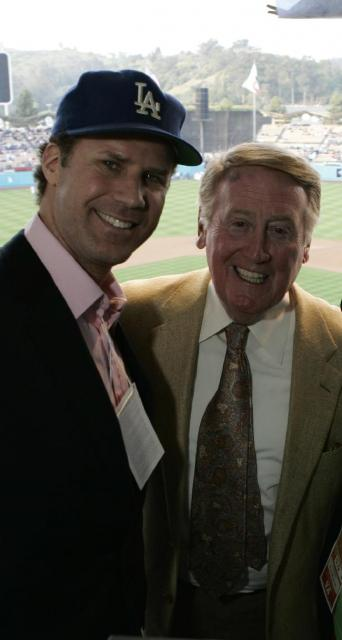 Vin Scully poses with Dodger fan Will Farrell.jpg