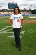 Dodger fan Nadia Bjorlin at Dodger Stadium.jpg