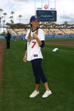 Dodger fan Lauren conrad at Dodgers Stadium.jpg