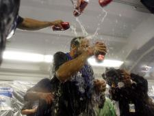Russell Martin gets a beer shower.JPG